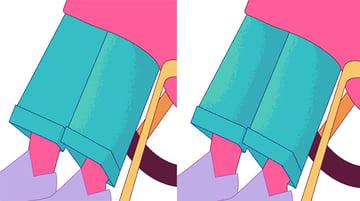 Render the pant legs
