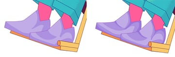 Add shadows to the shoes