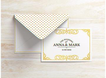 A6 Postcard Envelope Invitation Flyer Mock-Up