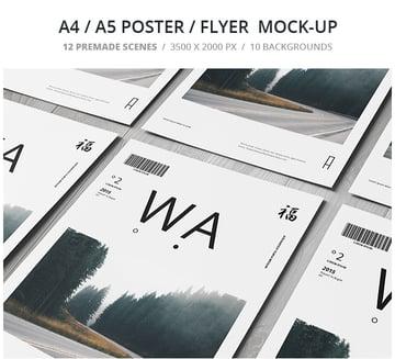 A4 A5 Poster Flyer Mockup