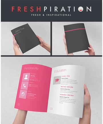 Metro Inspired Clean Resume Booklet 8 Pages