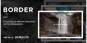 BORDER - A Delightful Photography WordPress Theme