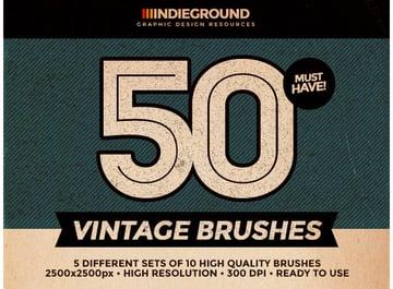 50 Vintage Brushes Set Vol 2