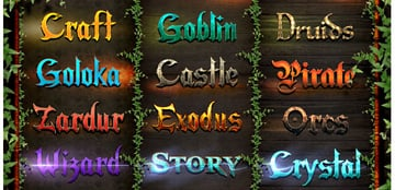 Epic Fantasy Game Style Text Effects - Bundle
