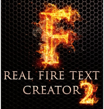 Real Fire Text Creator 2