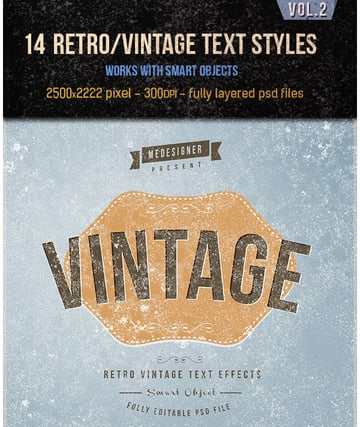 14 Retro Vintage Text Effects V2