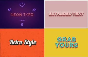 Text Effects Vintage 3D Bundle Vol 1-3