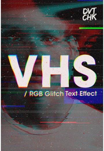VHS - RGB Glitch Text Effect