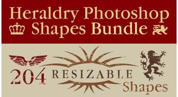 Heraldry Photoshop Shapes Bundle