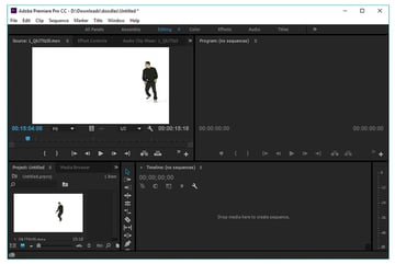 import your video file into adobe premiere pro cc