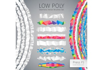 Low Poly Vector Seamless Brushes