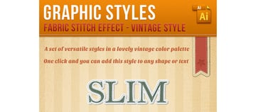 Stitch Effect Alphabet Vintage Style