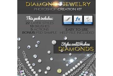 Diamond Gold Silver and Pearls Jewelry Creator