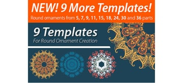 9 Templates For Round Ornament Creation