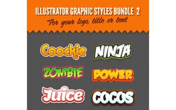 Illustrator Logo Graphic Styles Bundle 2