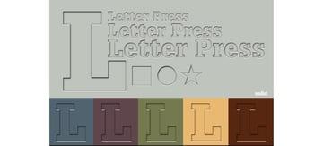Letter Press Illustrator Graphic Style