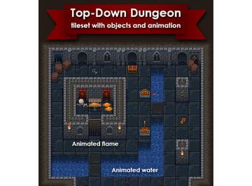 Top-Down Roguelike Dungeon Crawl RPG Tileset