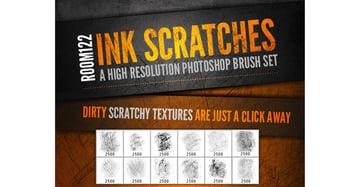 Ink Scratches Photoshop Brush Set