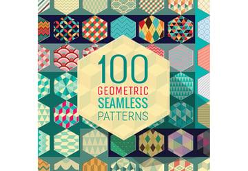 100 Geometric Seamless Patterns