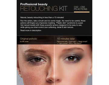 Professional Retouching Actions Kit