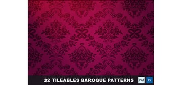 32 Tileables Baroque Backgrounds Textures Pattern