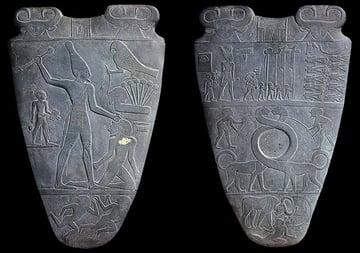 Narmer palette Image via Wikimedia Commons