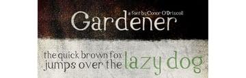 Gardener Font