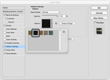 Add a Pattern Overlay to the text layer