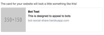 Screenshot of the Twitter Card Validator