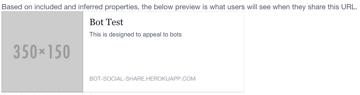 Screenshot of the Facebook open graph debugger