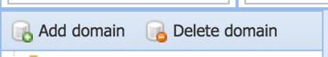 Adding a domain via the SdbNavigator