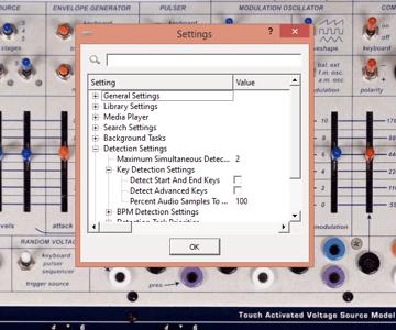 Rapid Evolution program settings window