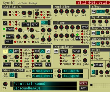 Synth1 VST instrument by Ichiro Toda