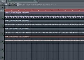 FL Studio showing the stems