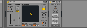 Effects chain on synth fx2