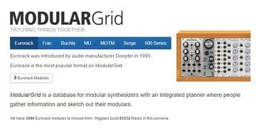 Modulargrid website