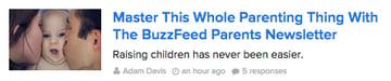 BuzzFeed headline example
