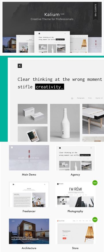 Kalium Creative Portfolio WordPress Theme