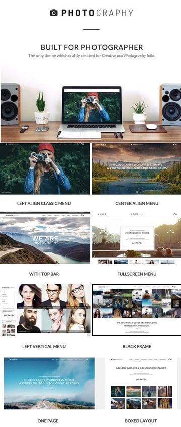 Photography - Photography WordPress Portfolio Theme