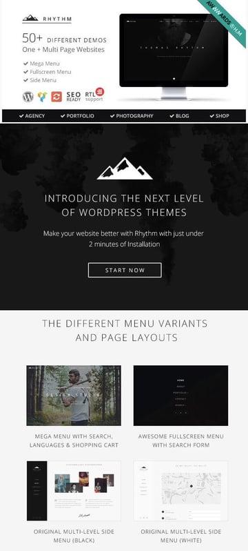 Rhythm - Best Portfolio WordPress Theme