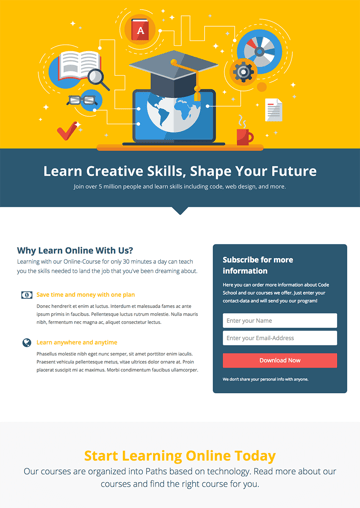 WordPress Landing Page Template