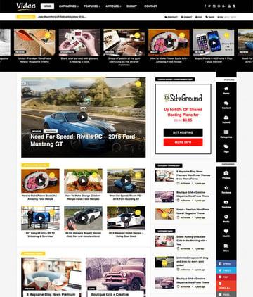 VideoNews - WP Magazine Theme