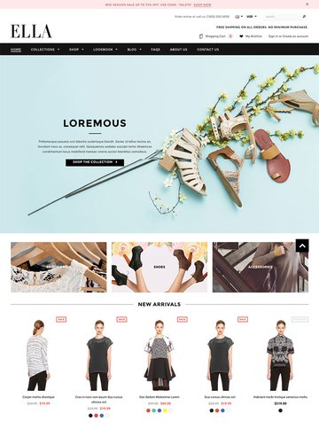 Ella Modern eCommerce Shopify Template 2016