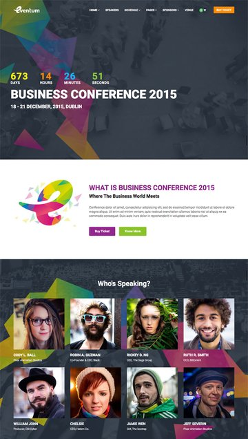 Eventum Conference Event WordPress Theme