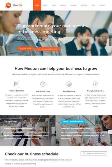 Meeton Conference and Event WP Template