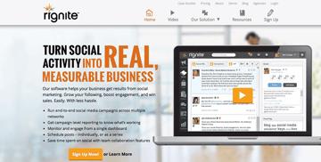 Rignite - Made for Ecommerce business social media integration