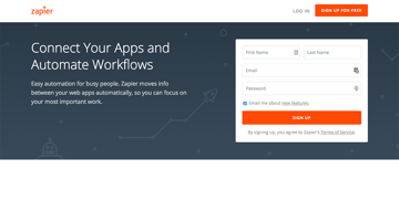 Zapier - For connecting social media apps and automation workflows