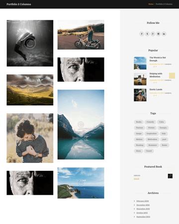 portfolio page from blog writers WordPress theme