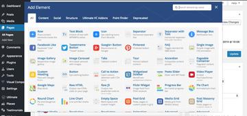 WordPress Visual Composer options panel