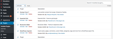 Activate WordPress resume theme plugins